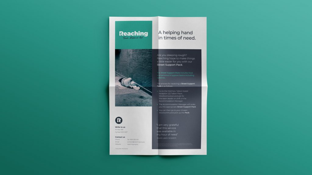 Reaching rough sleeper flyer by intwo