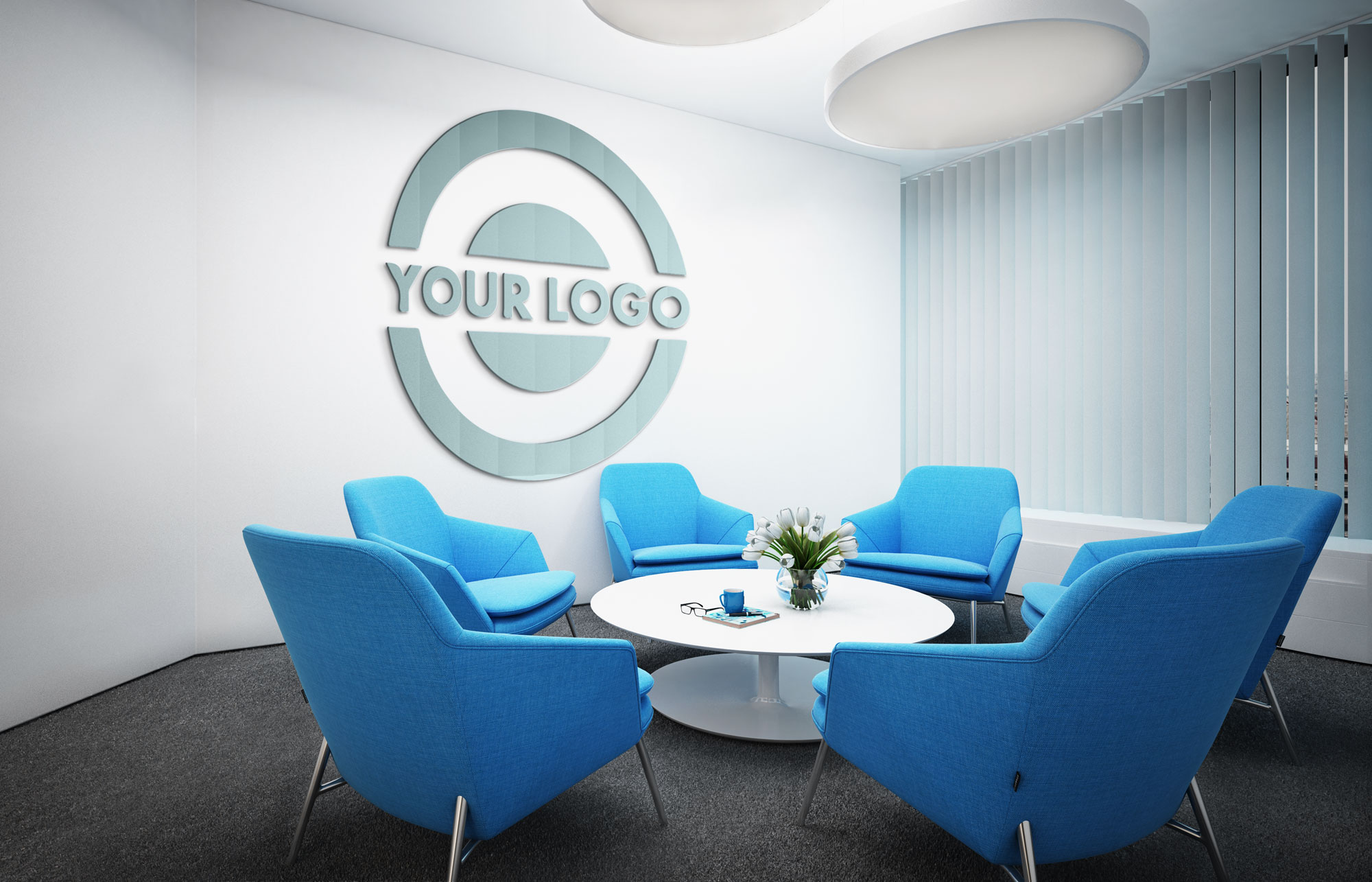 Corporate Round with 3D logo